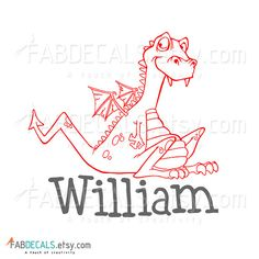 Initial And Family Name Personalized Name Vinyl Wall Decal Custom - Custom vinyl wall decals dragon