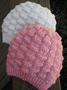 Basket-Weave Baby Hat pattern by Carole Barenys