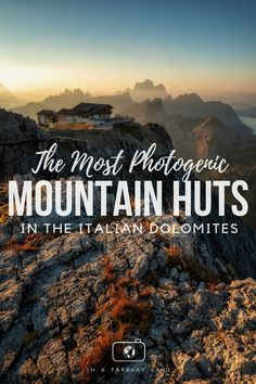 The Most Photogenic Mountain Huts In The Italian Dolomites - In A Faraway Land Cool Places To Visit, Places To Travel, Places To Go, Hiking Europe, Hiking Trips, Backpacking Trails, Travel Europe, European Travel, Travel Around The World