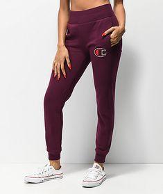 7281fa70b07a5 Champion Reverse Weave Big C Dark Berry Jogger Sweatpants
