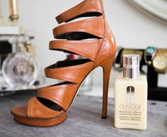 Mend dull or scratched leather shoes with moisturizer.