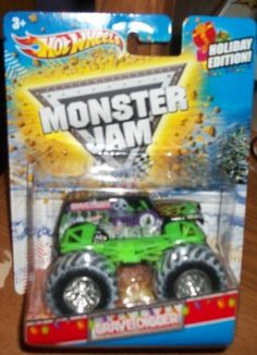 Hot Wheels Monster Jam HOLIDAY EDITION 2011 Gravedigger 1:64 by mattel. $5.60. 2011 Holiday edition. NEW 2011 HOT WHEELS HOLIDAY EDITION 1:64 SCALE TEENAGE MUTANT NINJA TURTLES MONSTER JAM TRUCK WITH SNOW ON THE TIRES.