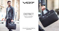 Collection Sacs & Bagages: La VO7 District. Nouveauté été 2015:  Cette serviette au revêtement mèche et aux finitions en cuir, pour plus de résistance, offre de nombreux espaces de rangement. La poche avant est en toile brillante matelassée afin de protéger le contenu de la sacoche, alliant ainsi esthétisme et sécurité...   VO7® - Le Blog