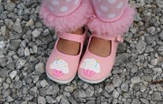 Birthday Shoes  Hand painted cupcake with white icing by Snanimals, $23.00