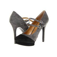 Nine West Argile Women's Maryjane Shoes - Dark Grey/Black Suede