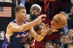 Blake Griffin (Los Angeles Clippers) and Lebron James
