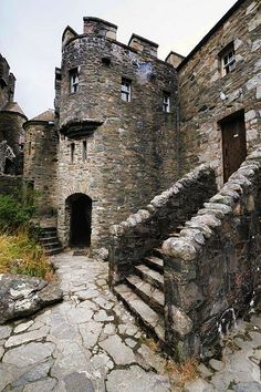 Eilean Donan castle, Scotland. The castle was founded in the thirteenth century, and became a stronghold of the Clan Mackenzie and their allies the Clan Macrae. In the early eighteenth century the Mackenzies' involvement in the Jacobite rebellions led in 1719 to the castle's destruction by government ships. Lieutenant-Colonel John Macrae-Gilstrap's twentieth-century reconstruction of the ruins produced the present buildings.