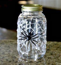 pókhálós tároló befőttes üvegből