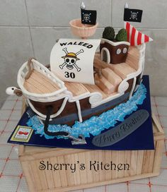 """One Piece"" ship cake  Cake by Sherry's Cakes"