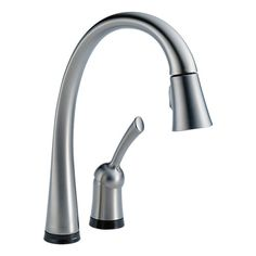 Kitchen Faucet Pilar Two Hole Pull Out Touch Artic Stainless