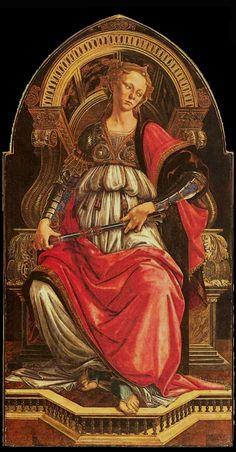 Botticelli's Fortitude (Selection of the Seven Virtues), Galleria degli Uffizi, 2014