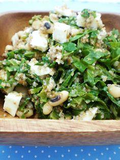 Salada de Trigo com Feijão e Couve   Figos & Funghis
