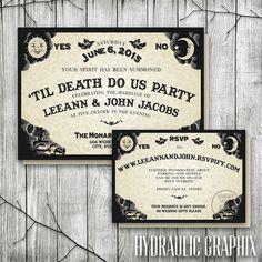Ouija Board Wedding Invitation & RSVP   Halloween Wedding Invitations