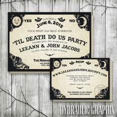 Ouija Board Wedding Invitation & RSVP | Halloween Wedding Invitations