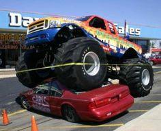 Monster trucks.
