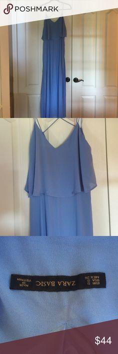 Zara light blue maxi dress! Zara light blue Macy dress! Size small. Very pretty when on vacation! Worn once. Zara Dresses Maxi
