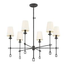 Forreston 6-Light Shaded Chandelier