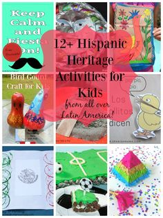 12 Ways to Celebrate Hispanic Heritage Month with Kids! Lots of great ideas, crafts, recipes and more! Fall Preschool, Preschool Crafts, Kindergarten Activities, Preschool Activities, Spanish Heritage, Easy Crafts For Kids, Kid Crafts, Heritage Crafts, Hispanic Culture