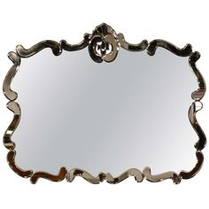 Vintage 20th Century Venetian Style Wall Mirror | From a unique collection of antique and modern wall mirrors at http://www.1stdibs.com/furniture/mirrors/wall-mirrors/