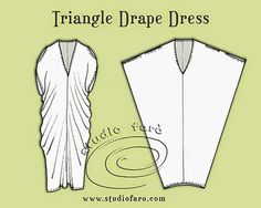 Puzzle - Triangle Drape Dress Pattern Puzzle - Triangle Drape Dress - Good Beach Cover up?Pattern Puzzle - Triangle Drape Dress - Good Beach Cover up? Diy Clothing, Sewing Clothes, Clothing Patterns, Sewing Patterns, Dress Patterns, Dress Sewing, Sewing Hacks, Sewing Tutorials, Sewing Crafts