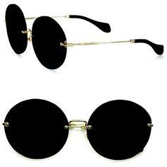 Miu Miu Retro Noir Round Acetate Sunglasses ($390) ❤ liked on Polyvore featuring accessories, eyewear, sunglasses, round tortoise glasses, rounded sunglasses, uv protection sunglasses, round tortoiseshell sunglasses and retro sunglasses