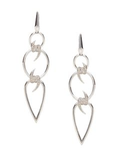 Forget Me Knot Pave Diamond Drop Earrings by Stephen Webster at Gilt