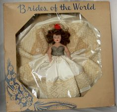 Vintage Doll Hard Plastic Brides Of The World by jujubeezcloset, $20.00