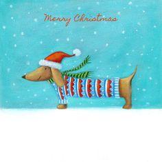 Ileana Oakley - Christmas Sausage Dog Woolly Jumper
