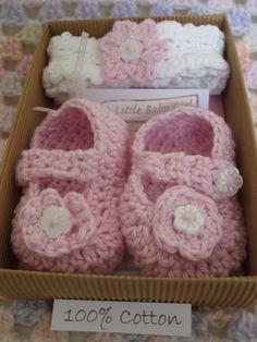 Baby Shoe and Headband Gift Set