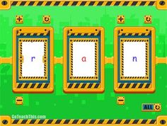 FREE Phonics Spinner  - Electronic Version for PC - An enjoyable game to practice real and nonsense consonant vowel consonant (CVC) words.