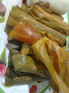 Ketimus. Ketimus is one of cassava's ingredients. See the recipe here: https://yusniaalfisyahrin.wordpress.com/2014/03/22/ketimus/
