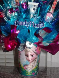 FROZEN Centerpiece CANDY Bouquet made of Edible by CandyFlorist