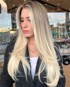 Haircut For Long Hair With Layers Straight Blunt Cuts 69 Best Ideas Haircuts For Long Hair With Layers, Long Layered Haircuts, No Layers Haircut, Medium Hair Cuts, Long Hair Cuts, Long Hair Styles, Blonde Hair Looks, Brown Blonde Hair, Blonde Long Layers