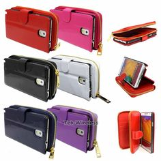 Patent-PU-Leather-Zipper-Purse-Wallet-Card-Case-Cover-For-Samsung-Galaxy-Note-3