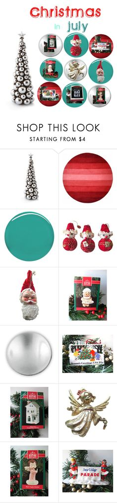 """""""Christmas In July"""" by openslatecollectibles ❤ liked on Polyvore featuring interior, interiors, interior design, home, home decor, interior decorating, Burberry, Hallmark, Michael Aram and Department 56"""