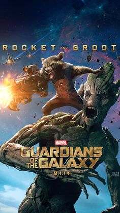 "GOTG ""Rocket & Groot"" iPhone 5 Wallpaper"