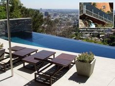 Image result for pools built into steep hillside with house at top