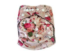 Charcoal Bamboo Cloth Pocket Diaper With Double Gussets - Cinderella