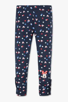 Disney Girls Minnie Mouse leggings - polka dot   Product description  The best at the end: gathers and ruffles provide a romantic finish for the leggings      With elasticated waistband     Product licensed by Disney     Frozen collection     Minnie Mouse motif on one leg     Occasion: Thermowear
