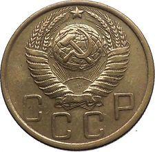 1949 USSR Soviet Union Socialist USSR Russian Communist 5 Kopeks Coin i56473