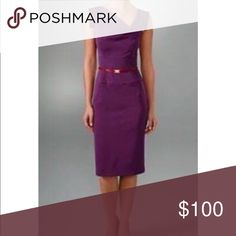 Black Halo classic Jackie O Dress plum size 2 NWOT.  This is a gorgeous must have for your fall wardrobe! The color is more burgundy than a true purple. Belt is not included.  I have never worn it since I bought it the wrong size. Black Halo Dresses