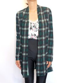 I've not seen a cardigan in plaid - I like this!