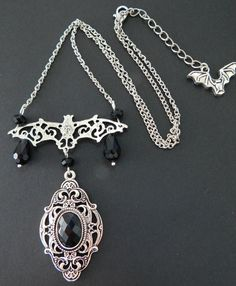 Hey, I found this really awesome Etsy listing at https://www.etsy.com/listing/198520189/gothic-bat-necklace