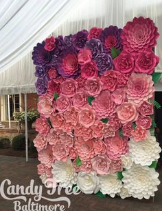 8X10 Paper Flower Backdrop / Giant Paper Flowers Wall / Paper Flower Wall… More