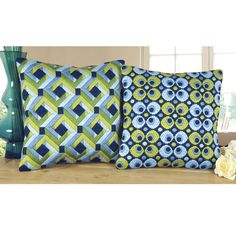 Both Circles and Squares Long Stitch Pillow Tops - Cross Stitch, Needlepoint, Embroidery Kits – Tools and Supplies Bargello Patterns, Bargello Needlepoint, Needlepoint Pillows, Needlepoint Stitches, Needlework, Plastic Canvas Patterns, Embroidery Kits, Cross Stitch, Cushions