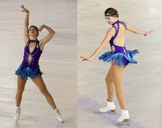Lénaëlle Gilleron-Gorry competing in the 2013 Cup of Nice, Blue Figure Skating / Ice Skating dress inspiration for Sk8 Gr8 Designs
