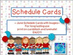 June Theme Schedule Cards with cute images for those who like to switch things up! Subjects include: Morning WorkReaders WorkshopPhonicsSpellingSnackRecessHealthSocial StudiesScienceOpen CircleMeetingAssemblyWriters WorkshopMathLibraryArtGymMusicGuestDismissalPlus Two Blank Pages to personalize!This download is for one personal classroom use only.