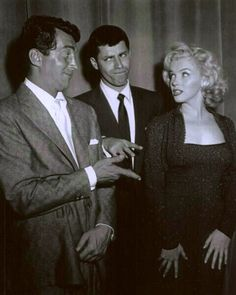 #Fifties | Dean Martin, Jerry Lewis and Marilyn Monroe