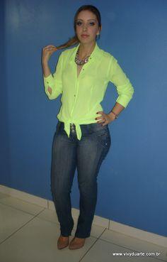 Vivy Duarte: Look do Dia: Yellow Shirt