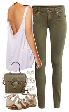 """Outfit with khaki trousers"" by ferned on Polyvore featuring H&M, ASOS, Mario Valentino, Steve Madden and Topshop"